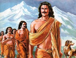 Pandavas on their way to heaven. (Picture: Goelweb.com)