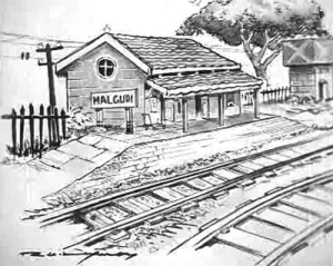 His masterpiece sketch of Malgudi Days (Picture: Universityexpress.co.in)