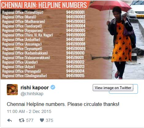 Chennai flood helpline numbers Archives - The Common Man Speaks