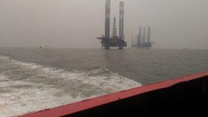 Oil plant Arabian sea