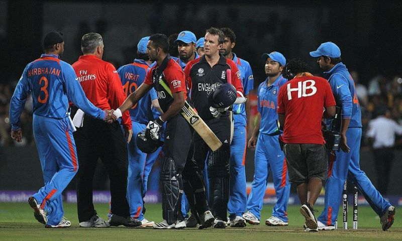 India v/s England during the 2011 World Cup