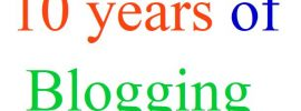 10 years of blogging
