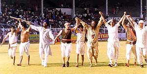 Lagaan real match
