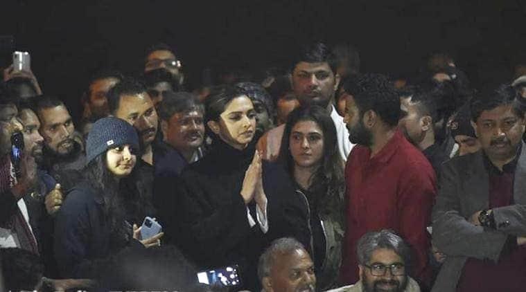 Deepika Padukone at JNU protests