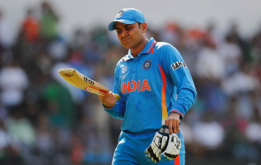 Virendra Sehwag vs West Indies