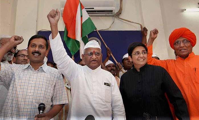 Anna Hazare at hunger fast